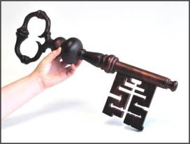 Stirling Castle Key 2:1 scale. Made for Historical Prop project on HND Model Making course.