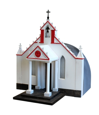 Italian Chapel, Orkney. Scaled to fit A4 page. Made for Doorway Project during HND Model Making.