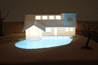 Loch House model made during HND Model Making. Scaled to fit A4 page.