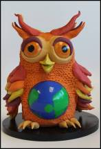Internet Safety Owl, designed and made for HND1 Model Making Graded Unit.